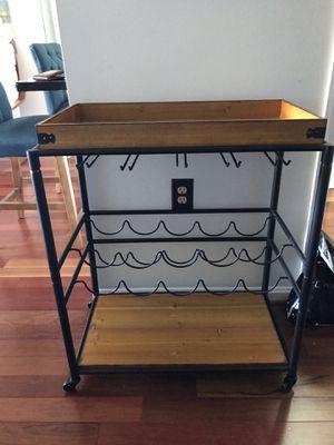 Modern industrial bar cart for Sale in Arlington, VA