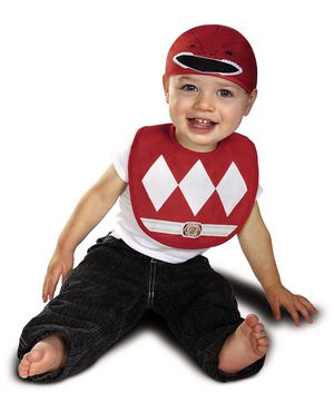 Disguise Baby Power Rangers Mighty Morphin Red Ranger Infant Bib and Hat Costume for Sale in Cayce, SC