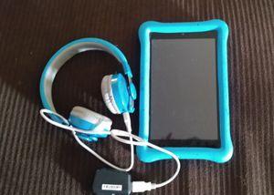 "Kids Blue HD Fire 32GB 8"" Tablet & Wireless Headsets for Sale in Modesto, CA"