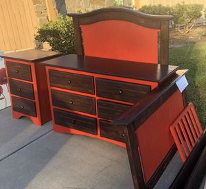 Farm House Red Twin Bed, Dresser, Nightstand for Sale in San Diego, CA