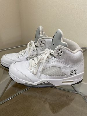 Air Jordan 5 Retro 2015 Metallic White 2015 for Sale in Brentwood, CA