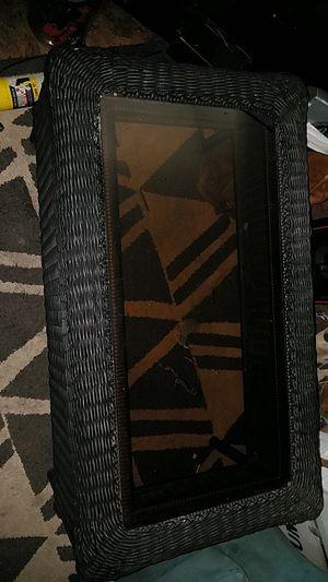 Black wicker coffie table for Sale in Concordia, KS