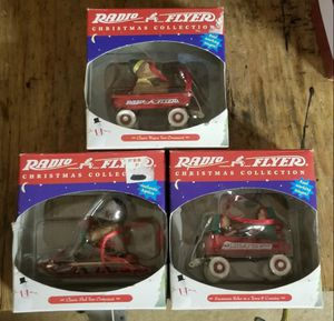 NEW Christmas ornaments RADIO FLYER WAGON Bear Elves Sleigh for Sale in Indianapolis, IN