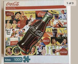 Buffalo Games 1000 Piece Coca-Cola Puzzle ~ Excellent Condition for Sale in Gilbert, AZ