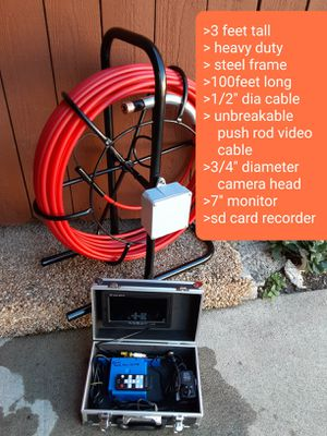 sewer snake camera video inspection camera for Sale in Laguna Beach, CA