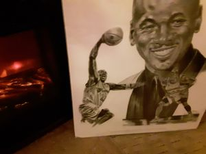 Portrait drawing of NBA star *Michael Jordan* #23 Wizards for Sale in Saint Albans, WV