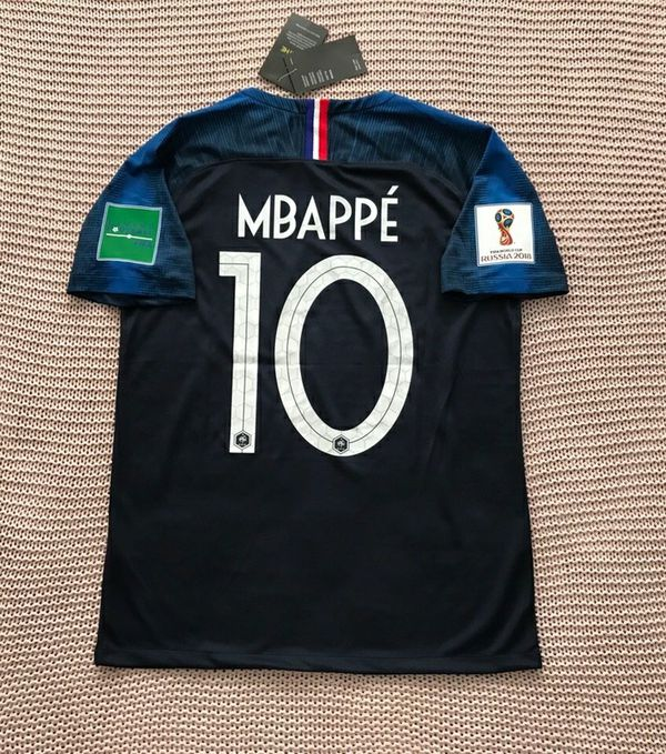 new product 9270a 34a5d Kylian Mbappe France National Soccer Team New Men's World Cup 2018 Home  Soccer Jersey - Final Jersey - Size M and L for Sale in Chicago, IL -  OfferUp