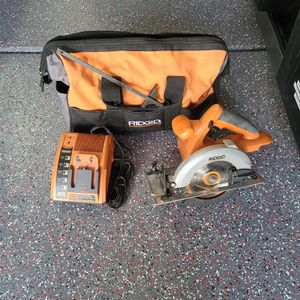 Ridgid Skill Saw, Charger, And Bag for Sale in North Las Vegas, NV