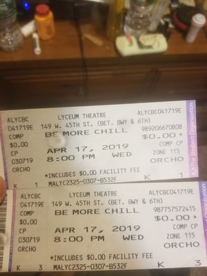 Be More Chill tickets for Sale in Old Bridge Township, NJ