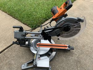 RIDGID 15 Amp Corded 12 in. Dual Bevel Sliding Miter Saw with 70° Miter Capacity (dewalt) - R4221 for Sale in Spring, TX