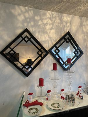 Decorative Wall Mirrors (2). $45 for Sale in New York, NY