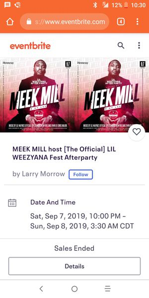 Meek Mill OFFICIAL Lil Weezyana After Party for Sale in Baton Rouge, LA