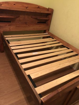 Full size bed frame with drawer on side of bed (Mattress not included) for Sale in Surprise, AZ