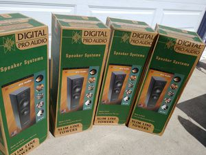 X6 ! Digital Pro Audio - Slim Line Tower Speakers - NEVER Opened!!! for Sale in San Marcos, CA