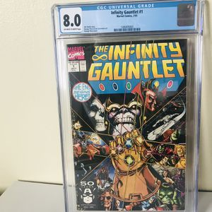 Infinity Gauntlet #1 CGC 8.0 - Key Issue - First Print for Sale in Richmond, CA