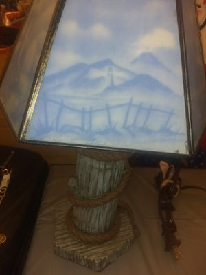 Nice blue lamp for Sale in Port Richey, FL