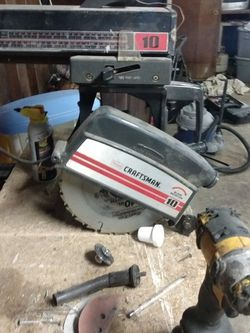 10 In Craftsman Radial Arm Saw $120 Four And A Half Inch Craftsman Grinder $30 20-in Blue Hawk Tile Cutter $ for Sale in Cleveland,  OH