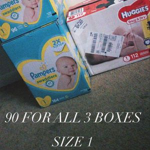 SIZE 1 PAMPERS AND HUGGIES for Sale in Philadelphia, PA
