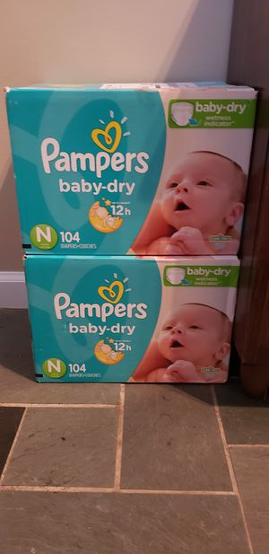 Unopened newborn diapers (1 box) for Sale in Edison, NJ