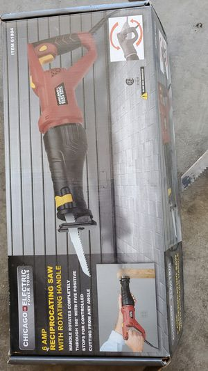 Chicago electric power tools reciprocating saw for Sale in Gonzales, CA