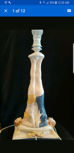 VINTAGE CERAMIC SYNCHRONIZED SWIMMER LAMP TALL for Sale in Cypress, TX