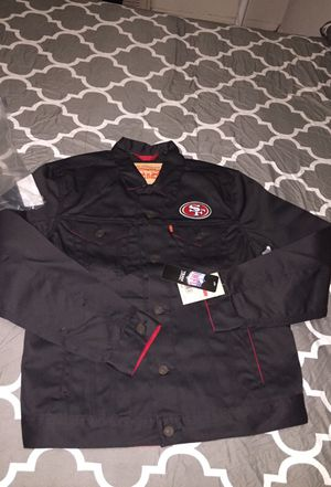 Men's Levi's NFL Jacket size medium in navy blue and large in size black for Sale in Bronx, NY