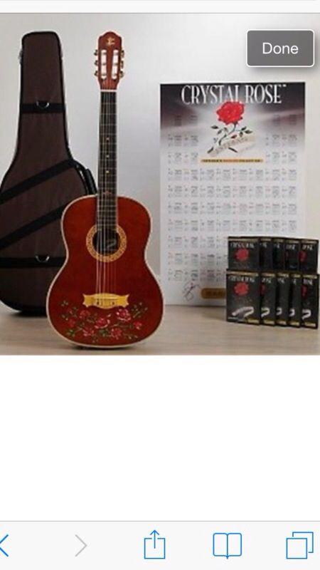 esteban rock on collection crystal rose guitar nylon string guitar package ltd for sale in. Black Bedroom Furniture Sets. Home Design Ideas