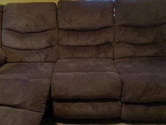 Raymour & Flannigan Gray Couch with Recliner for Sale in Philadelphia,  PA