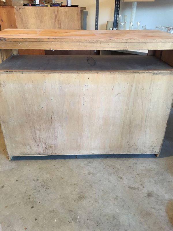 TV media stand storage console barnwood