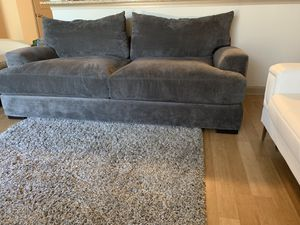 Z Gallerie — WIDE, plush, dark gray sofa (comfortably seats 3+) for Sale in Tampa, FL