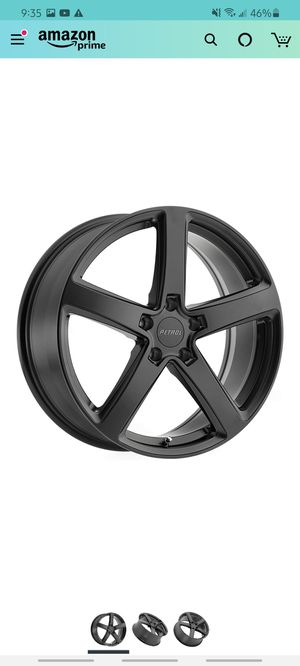 Petrol matte black 19 inch rims and tires for Sale in York, PA