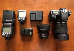 Canon 77D - Canon 50mm 1.8 STM - Godox V860iic Flash - Godox X Pro Trigger BUNDLE KIT with Boxes for Sale in Queens, NY