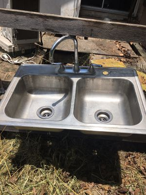 Kitchen sink with long neck faucet for Sale in San Antonio, TX