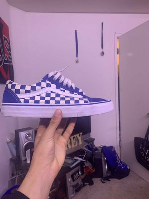 Blue checkered vans size 10 for Sale in San Jose, CA