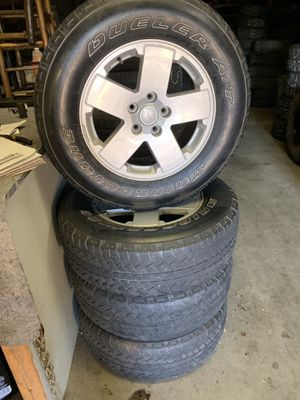 "18"" OEM Jeep wheels with Tires for Sale in Burlington, NC"