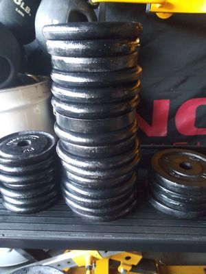 5lb 1inch Weights $5 each plate 45 available for Sale in Elmhurst, IL