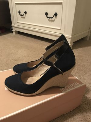 Michael Kors Blue Canvas Shoes for Sale in New Berlin, WI