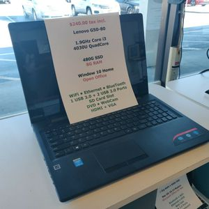 "Lenovo G50 15.6"" Laptop, Core i3 1.9GHz, 480GB SSD, 8GB RAM, Windows 10 Home...Fast !! for Sale in Winter Park, FL"