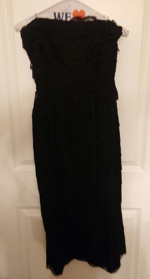 Vintage 50s Black Scalloped Lace Strapless Semi-Formal Party Dress for Sale in Germantown, MD