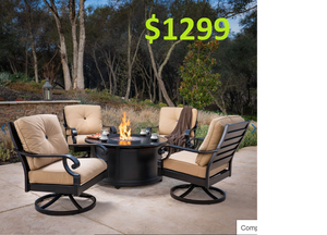 ☼☼☼ Patio fire pit chair 5pc set outdoor porch furniture collection premium quality on sale ☼☼☼ for Sale in Houston, TX