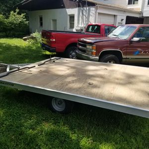 ATV snow mobile trailer 10x8ft $1500 used once. for Sale in Meriden, CT