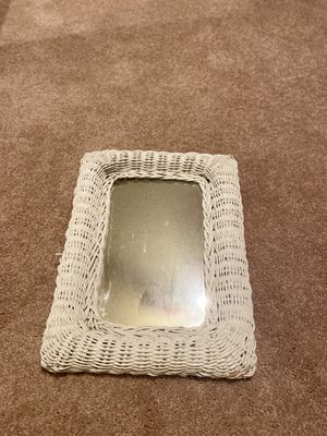 White whicker decor wall mirror for Sale in Hawthorne, CA