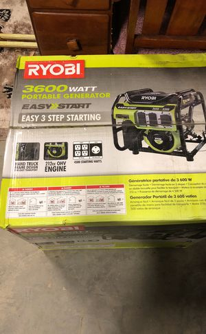 RYOBI 3600 watt Portable Generator for Sale in Reston, VA