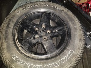 2015 jeep wrangler rim with brand new tire for Sale in Newington, CT