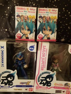 Mega Man, Sailor Moon, and 2 Japanese Blind Bag figures for Sale in San Mateo, CA