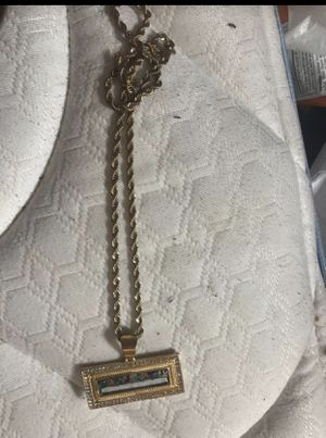 Gold pendant and gold chain for Sale in Carrollton, TX