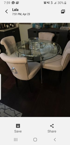 chrome and glass table(only) for Sale in Frederick, MD