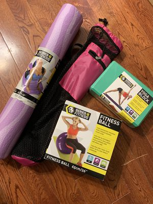 Yoga Mat, Block, Fitness Ball and carrier for Sale in Philadelphia, PA