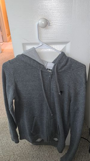 Super cute and comfy PINK sweater/hoodie. Size XS but it will fit up to a Medium. for Sale in West Palm Beach, FL