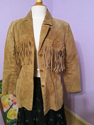 Womens Leather fringe jacket for Sale in Euless, TX